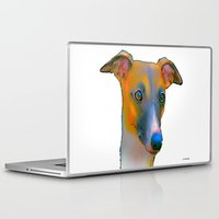 greyhound Laptop & iPad Skins featuring Greyhound by Marlene Watson