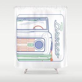 CLASSIC BRONCO Shower Curtain