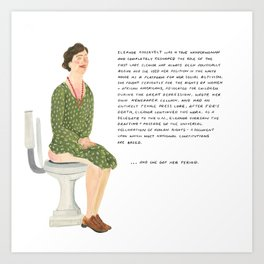 Eleanor Roosevelt Art Print