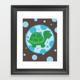 SERIES: Pond Critters - turtle Framed Art Print