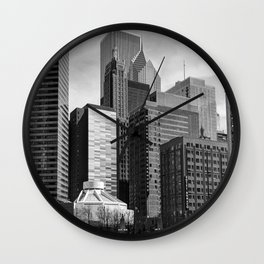 Chicago Stack Wall Clock