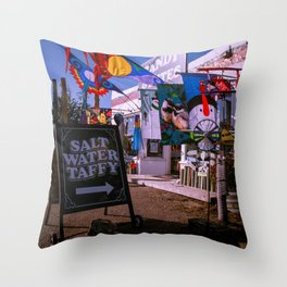 Candy and Kites in Bodega Bay Throw Pillow