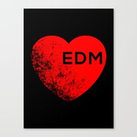 edm Canvas Prints featuring EDM  by DropBass