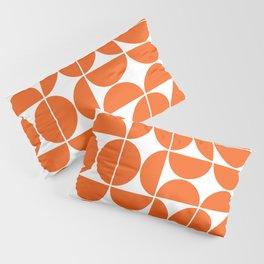 Mid Century Modern Geometric 04 Orange Pillow Sham