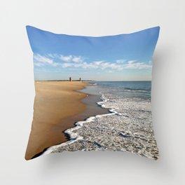 Wave Cascade Throw Pillow