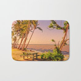 Time for a picnic on a warm tropical day Bath Mat