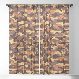 Fall Camouflage Sheer Curtain
