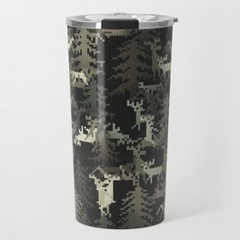 camo sweater with banging deers in the forest Travel Mug