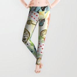 Alice In Wonderland Vivid Collage Leggings