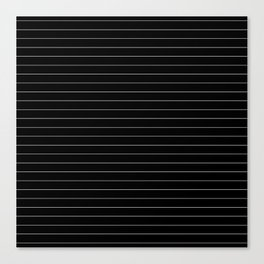 Black White Pinstripe Minimalist Canvas Print