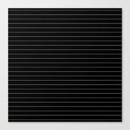 Black And White Pinstripe Line Stripe Minimalist Stripes Lines Canvas Print