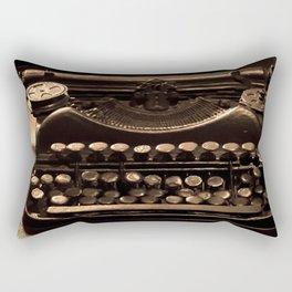 Antique Typewriter Rectangular Pillow