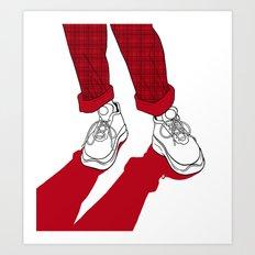 Rainbow Gossip - Red Art Print