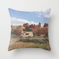Rock Camper Throw Pillow