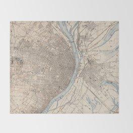 Vintage Map of St. Louis Missouri (1904) Throw Blanket