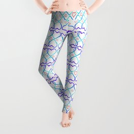 Pink and blue heart Leggings