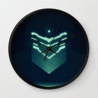 dead space Wall Clocks featuring Isaac Clark / Dead Space by Maxim Nikitin