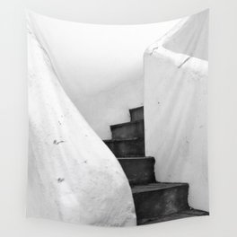 Black and White Stairs Wall Tapestry