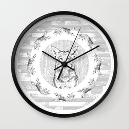 Pack of Coyotes Wall Clock