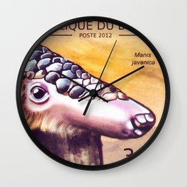 Sunda Pangolin Wall Clock