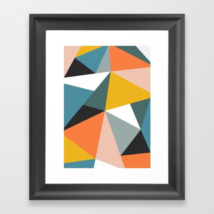 Modern Geometric 36 Gerahmter Kunstdruck