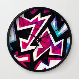 Psychedelic Abstract Colorful Urban Skate Graffiti Wall Clock