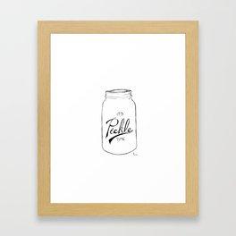 Pickle time Framed Art Print