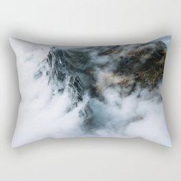 Moody Switzerland Mountain Peaks - Landscape Photography Rectangular Pillow