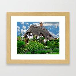 Quaint English Cottage Framed Art Print