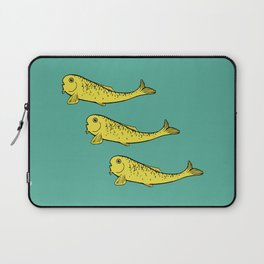 Yellow Fish Laptop Sleeve