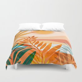 Golden Greek Garden / Sunset Landscape Duvet Cover
