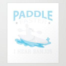 Paddle  Shirt Gift Art Print