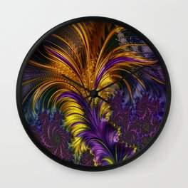 Fractal feather Wall Clock