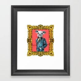 MR. PIG Framed Art Print