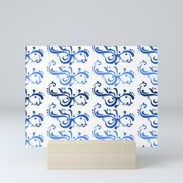 Blue Moon Filigree Mini Art Print