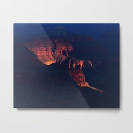 Grand Canyon Inner Light Metal Print