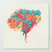 brain waves Canvas Prints featuring BRAIN WAVES by Olli Hietala