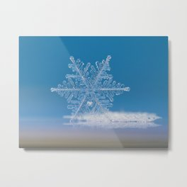 Snowflake photo - Cloud number nine Metal Print