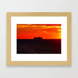 Boat on the Bay of Fundy. Canada. Framed Art Print