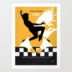 No619 My Fame minimal movie poster Art Print