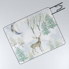 Winter Landscape Picnic Blanket