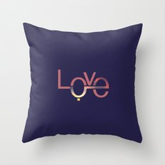 Love in English and Arabic Throw Pillow