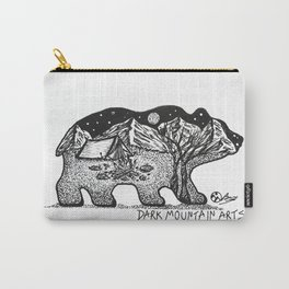 """Wander Bear"" Hand-Drawn by Dark Mountain Arts Carry-All Pouch"