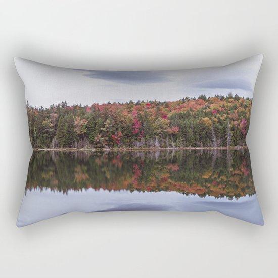 Autumn reflection Panorama Rectangular Pillow