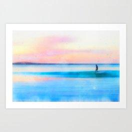 surf sunrise Art Print