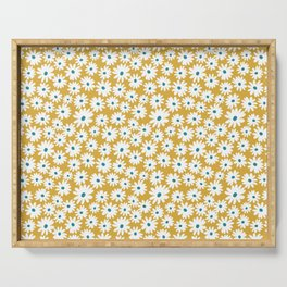Daisies - Spring - Yellow Serving Tray