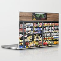 pasta Laptop & iPad Skins featuring Pasta Land by Teddy Kang's Art