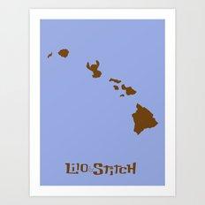 Lilo and Stitch Art Print