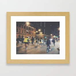 Late Night Bike Ride Framed Art Print