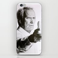 clint eastwood iPhone & iPod Skins featuring Clint Eastwood by Nathalief87